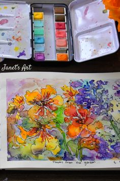 Painting Inspiration, Art Quotes, Watercolor Paintings, Art Drawings, Floral, Artist, Water Colors, Flowers, Artists