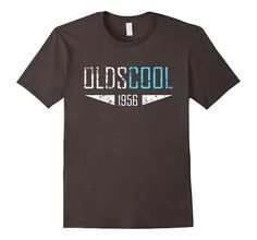 Men's Oldscool 1956 Shirt Funny 60th Birthday Gift Idea Old School 2XL Asphalt
