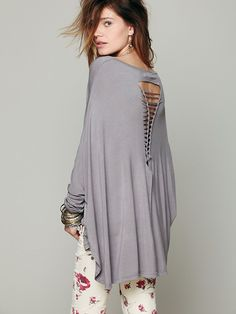 Gypsy Junkies Axel Caplet Boxy Long Sleeve Tee at Free People Clothing Boutique