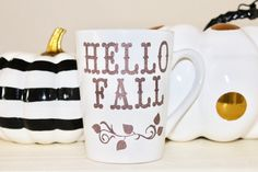 Hello Fall Mug by MyFetchingFancies on Etsy https://www.etsy.com/listing/467690094/hello-fall-mug