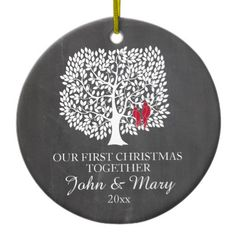 Shop Our first Christmas together ornament, love birds Ceramic Ornament created by DesignbyRedline. Personalize it with photos & text or purchase as is! Christmas Gifts 2016, Christmas Themes, Holiday Gifts, Christmas Holidays, Christmas Decorations, Christmas Photos, Christmas Sale, Happy Holidays, First Christmas Together Ornament