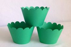 A personal favorite from my Etsy shop https://www.etsy.com/listing/186242390/12-count-green-scalloped-cupcake