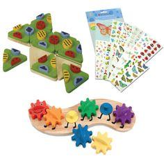 Baby Spielzeug Puzzles,3D-Puzzles,Puzzles aus Holz Farm Animals Block Puzzle