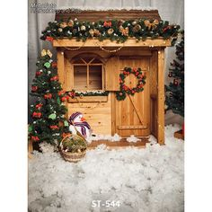 19.80$  Watch here - http://alif1l.shopchina.info/go.php?t=32736006174 - Customized vinyl print Xmas small wood house photography backdrops for kids photo studio portrait background ST-544 19.80$ #magazineonlinebeautiful