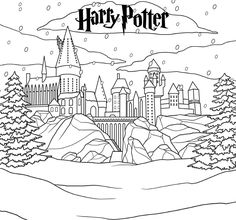 Harry Potter Coloring Pages Hogwarts Castle Chateau Harry Potter, École Harry Potter, Classe Harry Potter, Harry Potter Castle, Harry Potter Quilt, Harry Potter Drawings, Harry Potter Silhouette, Hogwarts Silhouette, Harry Potter Journal