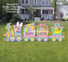 Easter Train Woodcraft Pattern