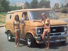 """Let The Good Times Roll"" custom Chevy Van."