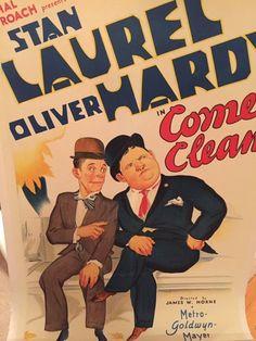 Stan Laurel & Oliver Hardy Hal Roach movie poster