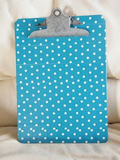 Adorable Potta Dotted Clipboard...duck tape love!!!
