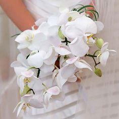 Bouquet orchidee bianche a cascata