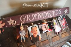 Glimmer And Grit: Reclaimed Pallet Wood Painted Photo Sign Tutorial. Super cute and easy, no fancy equipment required!!!