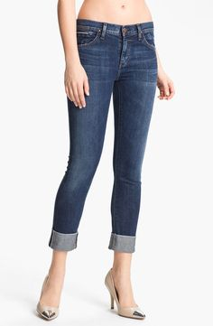 Goldsign 'Jenny' High Waist Crop Skinny Jean - http://womenspin.com/clothing/jeans/goldsign-jenny-high-waist-crop-skinny-jean/