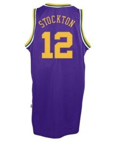 5b1d2b8e5 ... adidas Mens John Stockton Utah Jazz Retired Player Swingman Jersey -  Purple XXL ...