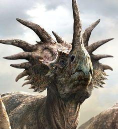 Styracosaurus, Late Cretaceous, 75.5–75Ma, Marginocephalia (ceratopsian), Discovered by Lambe, 1913