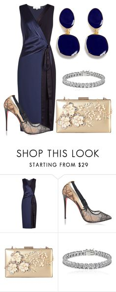 """""""Sans titre #413"""" by dashz ❤ liked on Polyvore featuring Diane Von Furstenberg, Christian Louboutin, Rimen & Co., Apples & Figs and Kenneth Jay Lane"""
