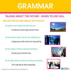 Grammar: When to use 'will'