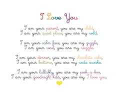 more than sayings: you are my I love you