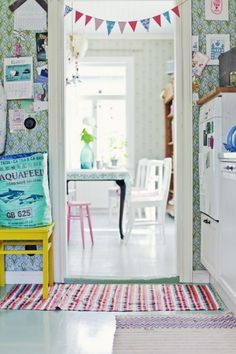 Whimsical, playful, colourful kitchen and dining. Casa Milano, Le Logis, Sweet Home, Deco Boheme, Home And Deco, Home Decor Inspiration, Kitchen Inspiration, Beautiful Interiors, Cozy House