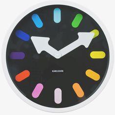 Karlsson Wall clock - Pictogram Rainbow - Black.