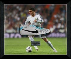 Signed Boot Display | Famous Memorabilia Cristiano Ronaldo's devastating five-goal performance on Sunday has rekindled his ongoing duel with rival Lionel Messi to see which star ends the season as the Spanish league's top scorer. #famousmemorabilia #cristianoronaldo #ronaldo #lionelmessi #messi