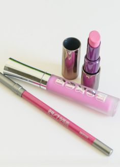 Urban Decay Lipstick and Pencil in Obsessed, Buxom Gloss in Lavender Cosmo | howsweeteats.com