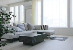 入居1年シリーズ、リビング編です( 〃▽〃)b先日、リビングのラグ(カーペット)... First Home, Houzz, Outdoor Furniture, Outdoor Decor, Grey And White, Dining Room, Interior Design, Architecture, House Styles
