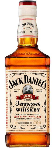 Jack Daniel's 1907 Tennessee Whiskey is charcoal mellowed and matured in the cooler areas of the barrel warehouse and bottled at alcohol. Bourbon Alcohol, Rye Bourbon, Rye Whiskey, Tennessee Whiskey, Whisky, Jack Daniels Bottle, Distillery, Fun Drinks, Whiskey Bottle