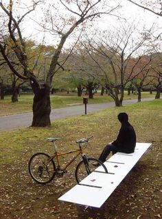 Bike rack and bench