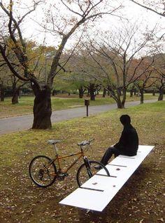 Bike rack and bench