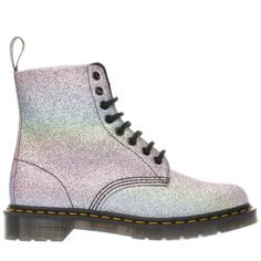 womens dr martens pink & purple pascal 8 eye boots
