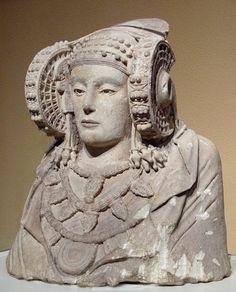 La Dama de Elche. Busto íbero (entre los siglos V y VI a. C.)