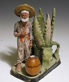 Vintage Mexican Vendor Figurine.