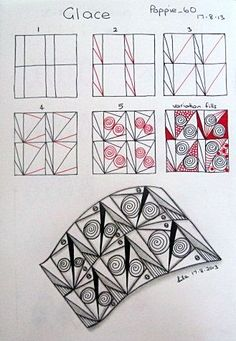 Poppie's Pen Pics ©: New Pattern - Glace | Zentangle-Muster ...
