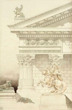 Necrópole. Defrasse Alphonse 1883, Academia de bellas artes