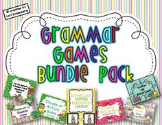 This bundle pack contains 7 grammar games that can be used all year long to help strengthen and reinforce the following grammar concepts: