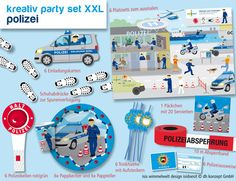 Polizeiparty-Set-XXL 89tlg.