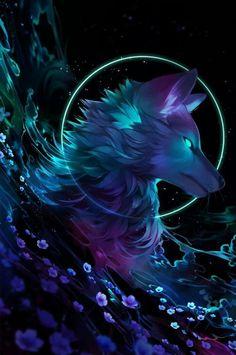 Mythical Wallpaper Galaxy Cute Wolf