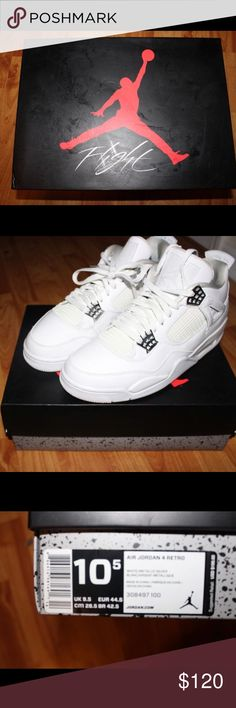 Pure money 4s 8 10 condition comes with box Jordan Shoes Sneakers Pure  Money 4s 40362ef26