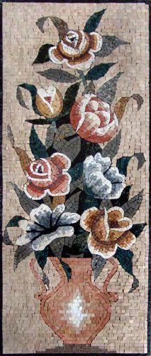 18x44 Flower Marble Mosaic Art Tile Wall Floor Decor by mozaico. $355.00. Mosaics have endless uses and infinite possibilities! They can be used indoors or outdoors, be part of your kitchen, decorate your bathroom and the bottom of your pools, cover walls and ceilings, or serve as frames for mirrors and paintings.
