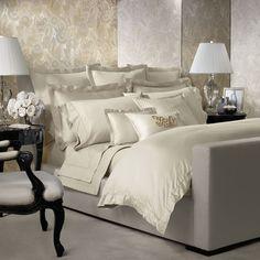 ralph lauren navy bedding | Ralph Lauren Home Cream Sateen Langdon Collection