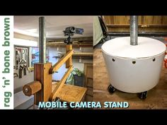 (29) Mobile Camera Stand - using concrete and reclaimed materials - YouTube