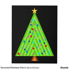 Shop Decorated Christmas Tree Panel Wall Art created by AponxDesigns. Panel Wall Art, Christmas Tree Decorations, Triangle