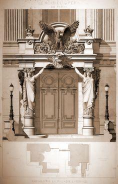THE PLATES BY CHARLES GARNIER (parte 7) Nouvel Opéra de Paris