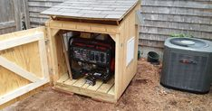 My Virtual Life: Generator House--Better Than the Design Diy Generator, Small Portable Generator, Emergency Generator, Carpentry Projects, Home Projects, Outside Storage, Small Sheds, Outdoor Cover, Shed Kits