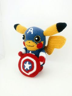 Learn how to crochet this adorable Pikachu in disguise ! This is not the finished toy, it is a downloadable PDF pattern.  The pattern is very detailed