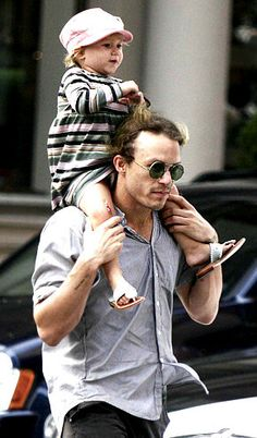 Heath Ledger with his daughter Matilda. Check out Brigette's review of Emma Forrest's Your Voice In My Head here: http://chaptersandscenes.wordpress.com/2014/08/08/brigette-reviews-your-voice-in-my-head/