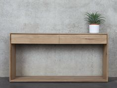 Solid wood console table with drawers Oak Nordic Collection by Ethnicraft