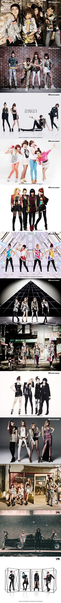 """new evolution"" of 2NE1 | since 2009"