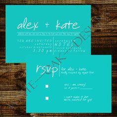 Digital Custom Wedding Invitation Set