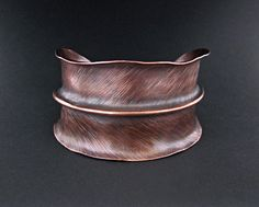 Cuff | AddictionToDetail.  'Feather'.  Copper.